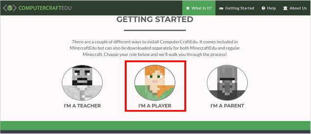 ComputerCraftEduのサイトにアクセス