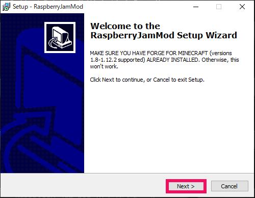 Raspberry Jam Modのインストール
