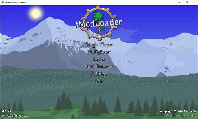 tModLoader起動画面